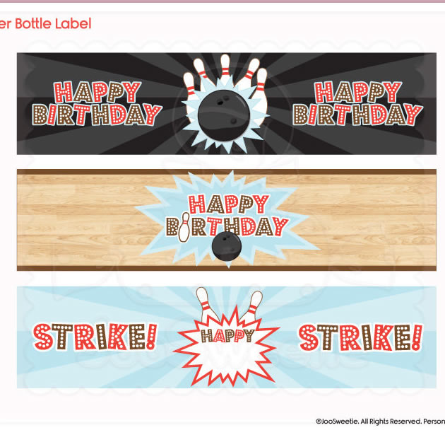 printable bowling labels