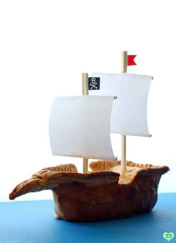 pirate boat dessert