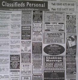 call girl ads