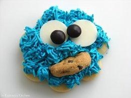 sesame street birthday party cookie monster cookie