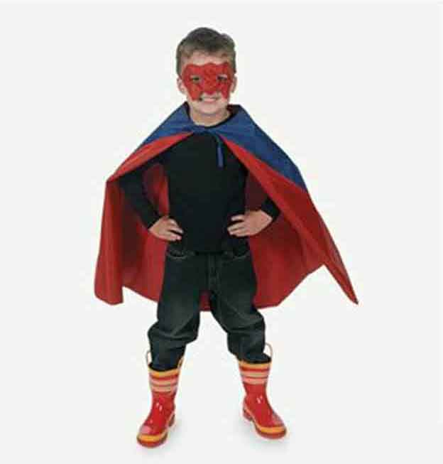 superhero mask and cape