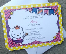 hello kitty personalized invitations