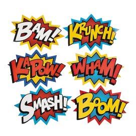 superhero word cut outs