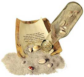 pirate message in a bottle invitations