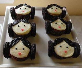 star wars birthday party princess leia cupcakes