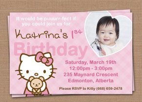 hello kitty personalized invitations