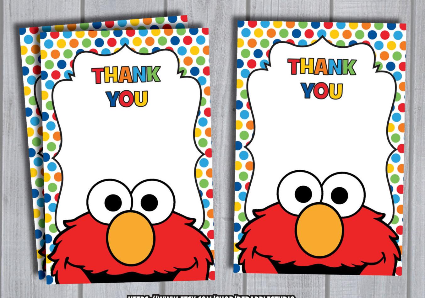 printable elmo thank you notes