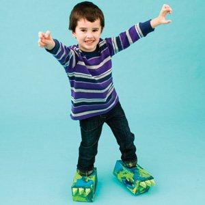 make dinosaur feet