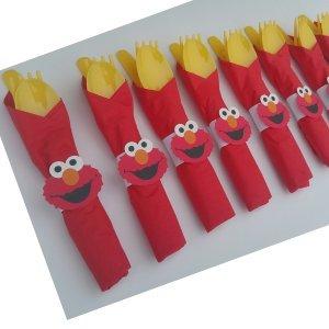 elmo party cutlery