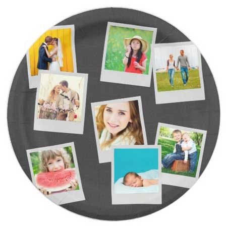 personalized photo party paper plates
