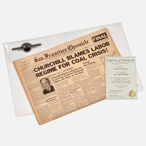 Historical Birthday Newspapers