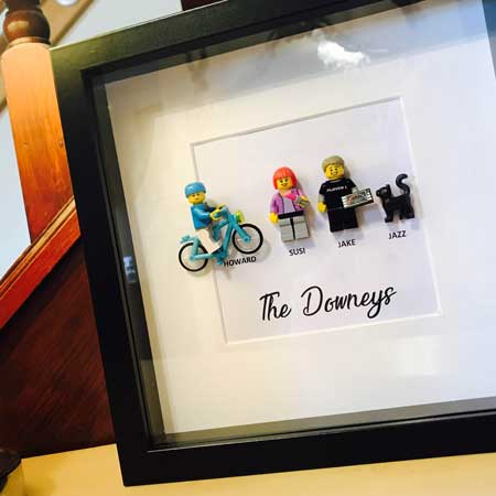 Personalized Lego Family Box Frames