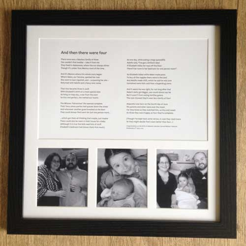 personalized poem with photos