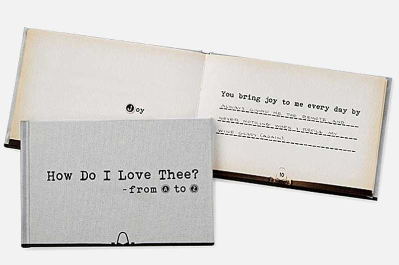 how do I love thee from A-Z book