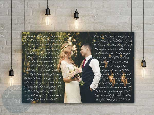 reasons we love you custom photo canvas
