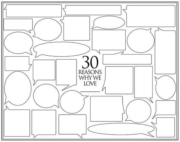 30 reasons why we love you template