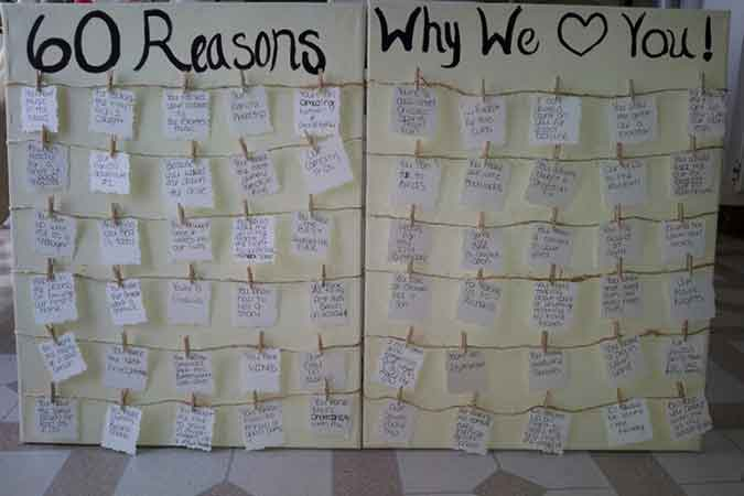 30 reasons why we love you display