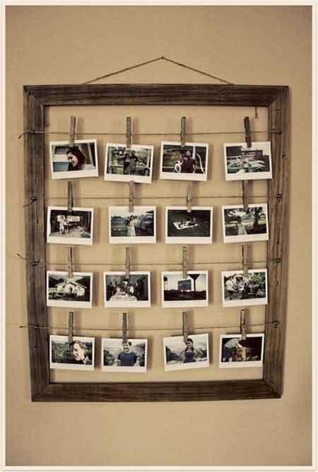 30th birthday party polaroid guest photos display