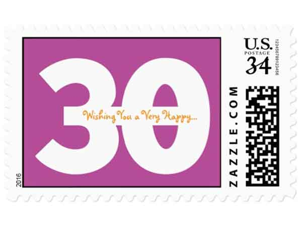 30 messages from 30 friends stamps