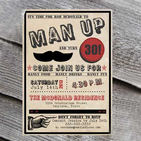man up invitation