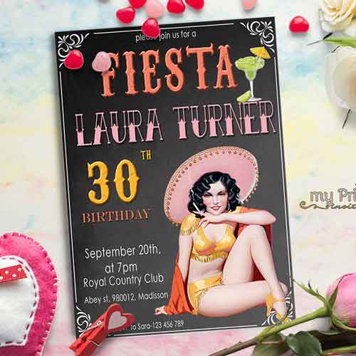 fiesta invitation for women