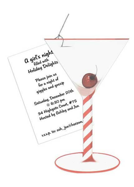 cocktail martini invitation