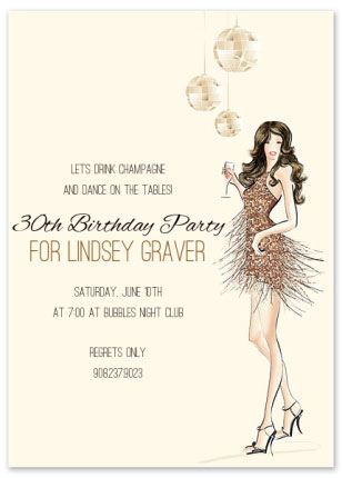 30th birthday invitation for women