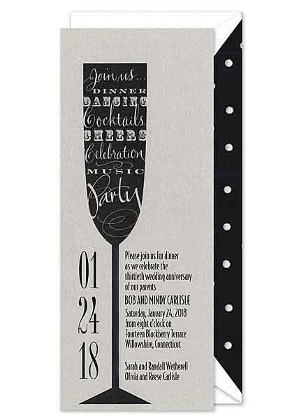 champagne flute invitation