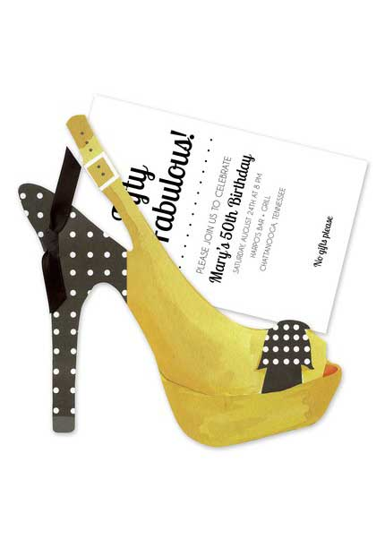 high heels shoe invitation