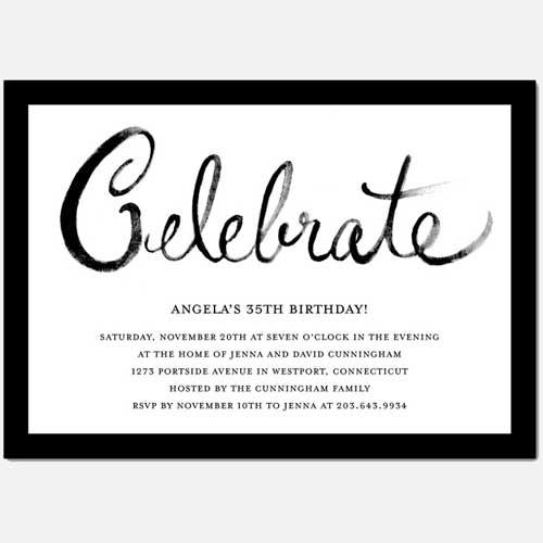 celebrate invitation