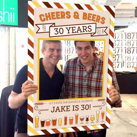 Cheers And Beers To 30 Years Photo Booth Props