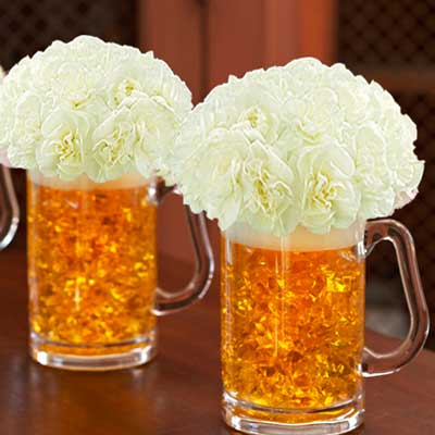 beer floral centerpiece