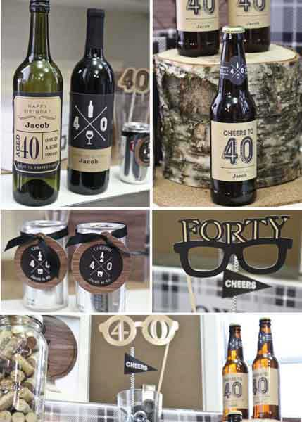 Aged to Perfection 30th birthday party decorations