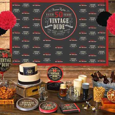 Vintage Dude dessert table backdrop