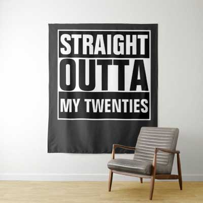 Straight Outta My Thirties backdrop