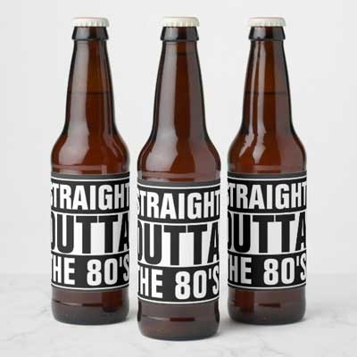 Straight Outta The 70's beer bottle labels