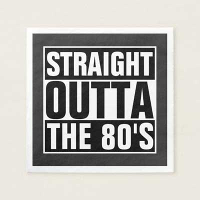 Straight Outta The 70's paper napkins
