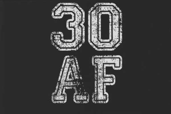 30 AF party theme