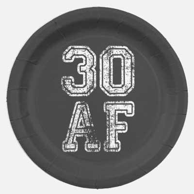 30 AF party plates