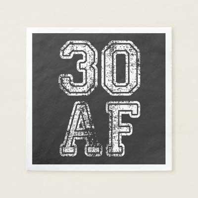 30 AF napkins