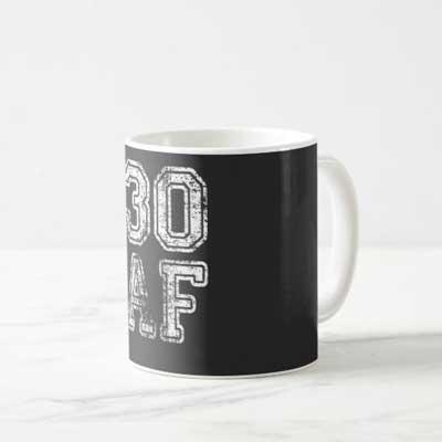 30 AF mug