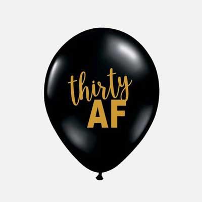 30 AF balloons