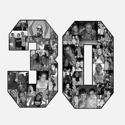 30th birthday photo collage