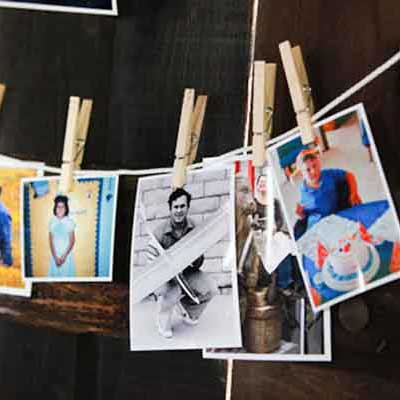 photos on pegs