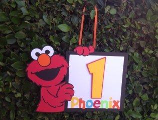 elmo personalized yard sign