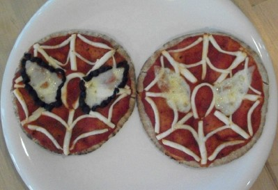 spiderman pizza
