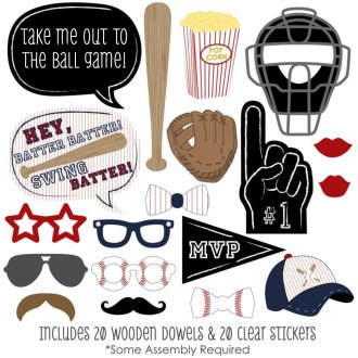 baseball photobooth props