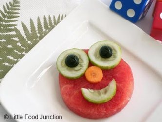 elmo fruit face