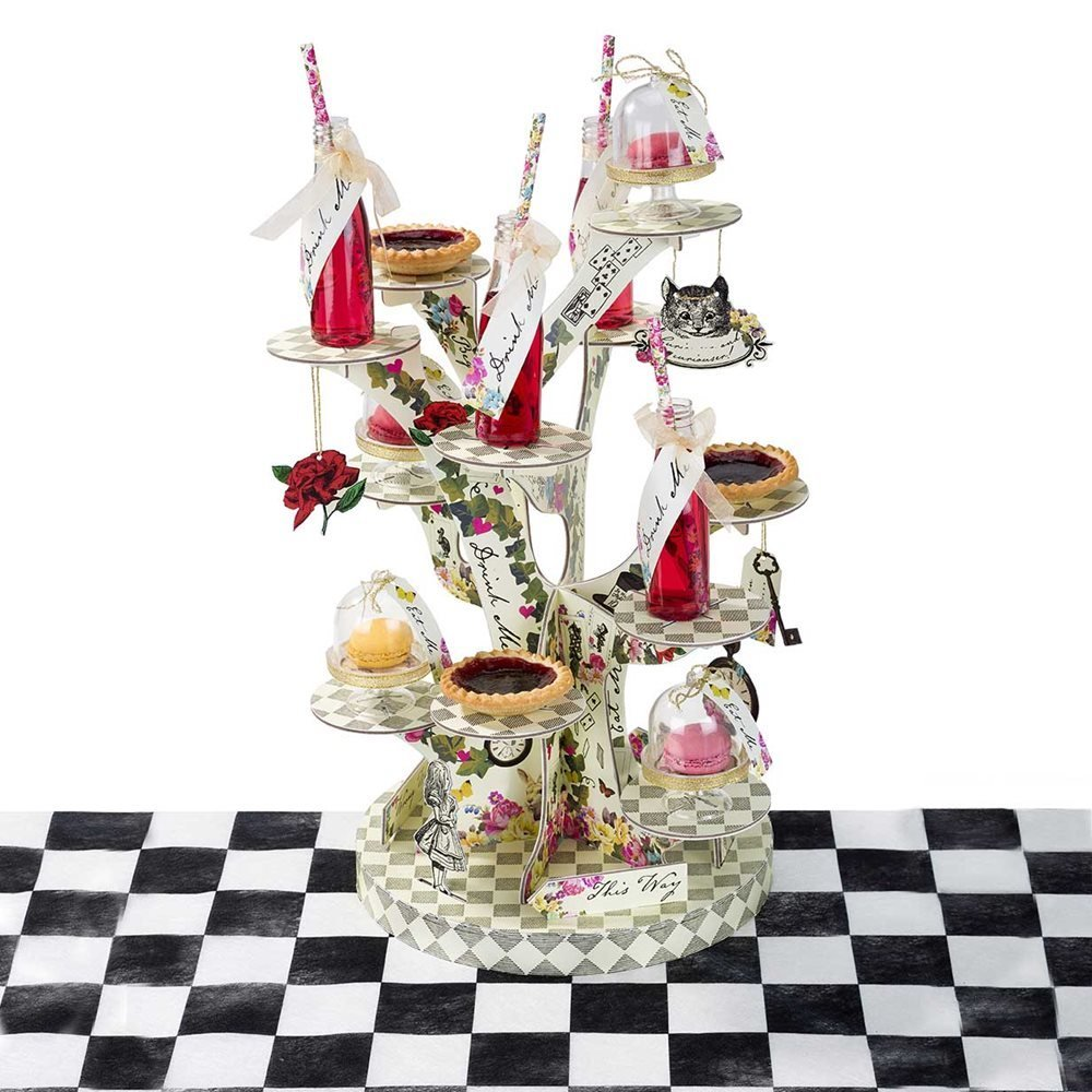 alice in wonderland cake stand