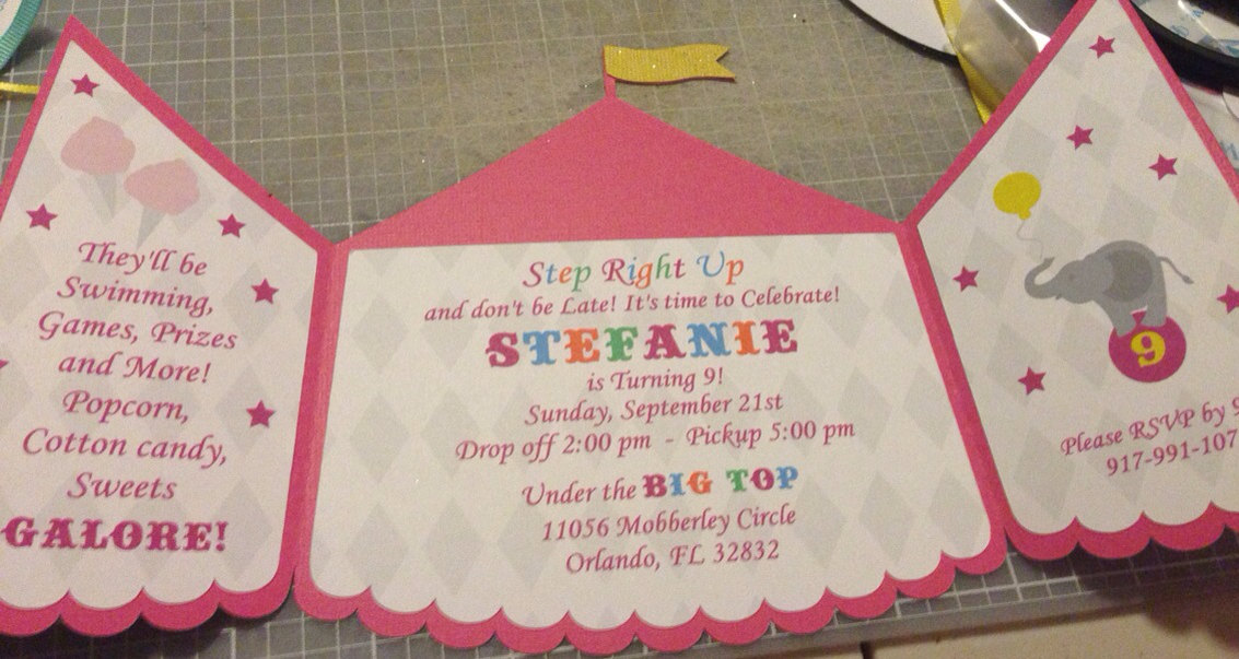 carnival tent invitation